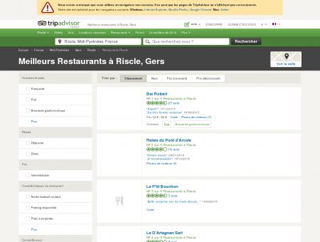 Les 5 meilleurs restaurants à Riscle - TripAdvisor