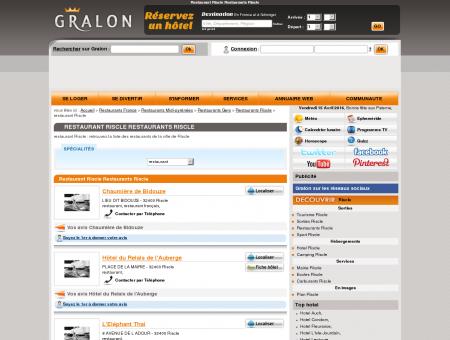 Restaurant Riscle Restaurants Riscle - Gralon :...