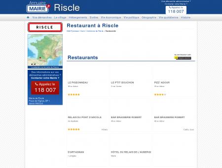 Restaurant Riscle, la Mairie de Riscle, sa...