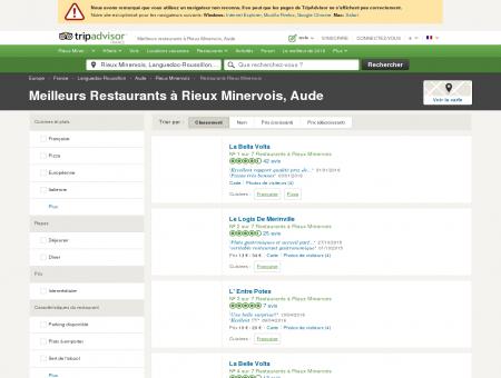 Les 5 meilleurs restaurants à Rieux Minervois -...