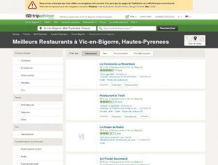 Les meilleurs restaurants à Vic-en-Bigorre -...