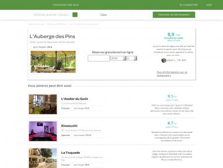 L'Auberge des Pins | LAubergedesPins.LaFourchette.com