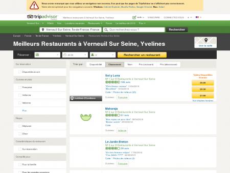 Les 5 meilleurs restaurants à Verneuil Sur...