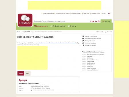HOTEL RESTAURANT CAZAUX - Restaurant -...