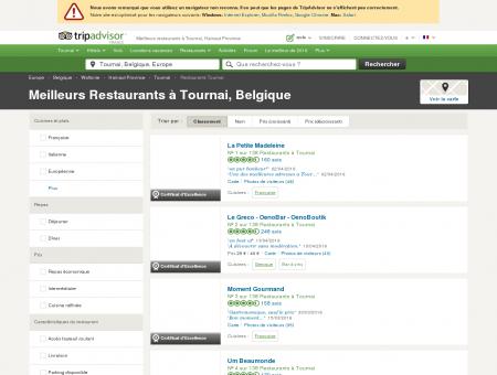 Les 10 meilleurs restaurants à Tournai -...