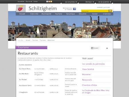 Restaurants   Ville de Schiltigheim