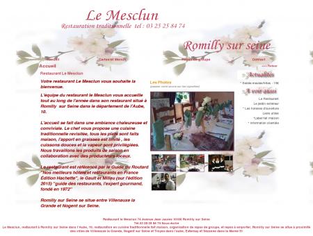 Restaurant le Mesclun à Romilly sur Seine :...
