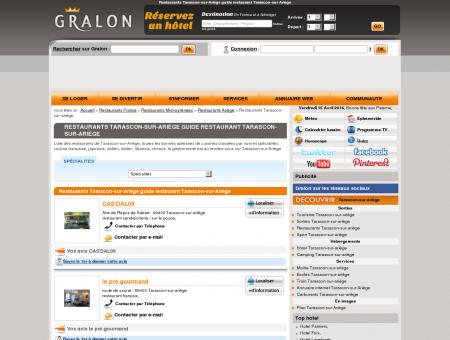 Restaurants Tarascon-sur-Ariège guide...