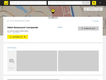 Hôtel Restaurant Campanile Torcy (adresse,...