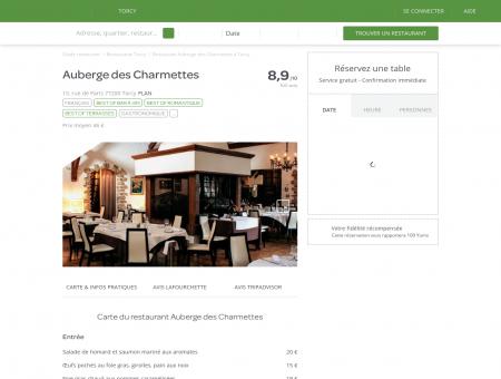 Restaurant Auberge des Charmettes à Torcy -...
