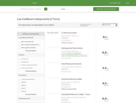 Restaurants Torcy - Les meilleurs restaurants de Torcy.