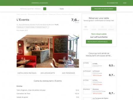 Restaurant L'Events à Verrières-le-Buisson -...