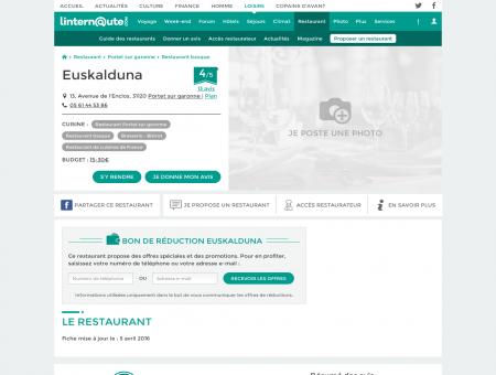 Euskalduna, brasserie - bistrot à Portet sur...