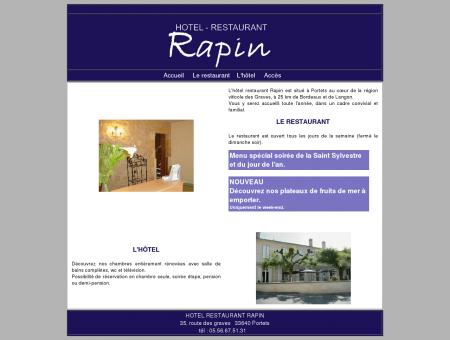 Hôtel restaurant Rapin, accueil