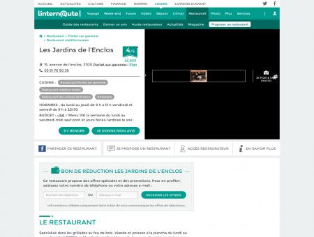 Les Jardins de l'Enclos, restaurant...