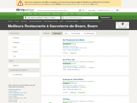 Les meilleurs restaurants à Sauveterre-de...