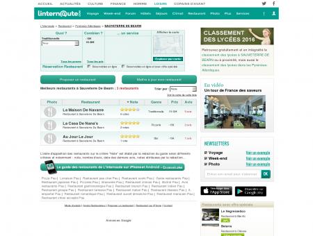 Restaurant Sauveterre De Bearn : Le guide des...