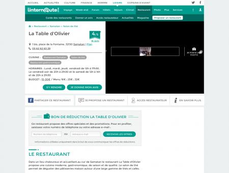 La Table d'Olivier, salon de thé à Samatan, avec...