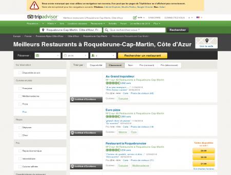 Les 10 meilleurs restaurants à Roquebrune...