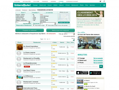 Restaurant Roquebrune Cap Martin : Le guide...