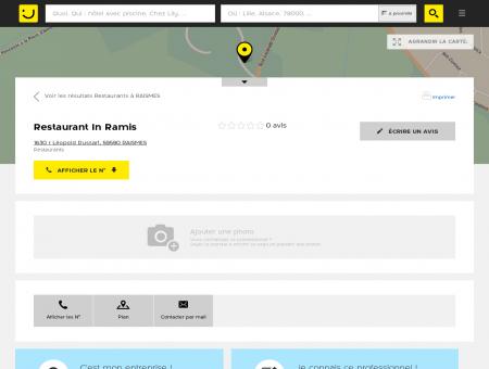 Restaurant In Ramis Raismes (adresse) -...