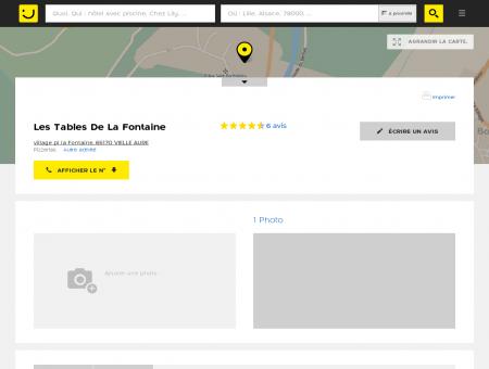 Les Tables De La Fontaine Vielle Aure (adresse,...