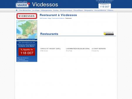 Restaurant Vicdessos, la Mairie de Vicdessos,...