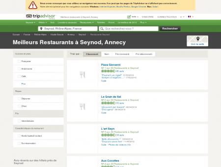 Les 10 meilleurs restaurants à Seynod -...