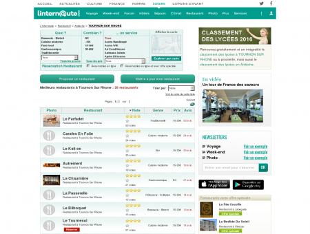 Restaurant Tournon Sur Rhone : Le guide des...