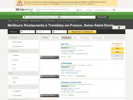 Les 10 meilleurs restaurants à Tremblay-en...