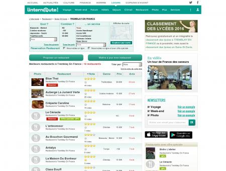 Restaurant Tremblay En France : Le guide des...