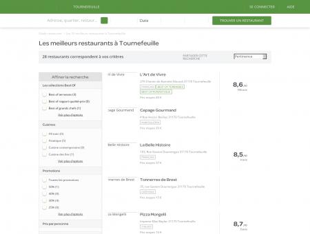 Restaurants tournefeuille - Meilleurs restaurants : réservez.