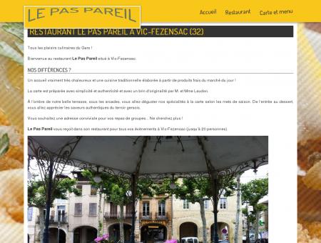 Restaurant Le Pas Pareil à Vic-Fezensac (32)