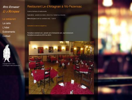 Restaurant Le d'Artagnan à Vic-Fezensac