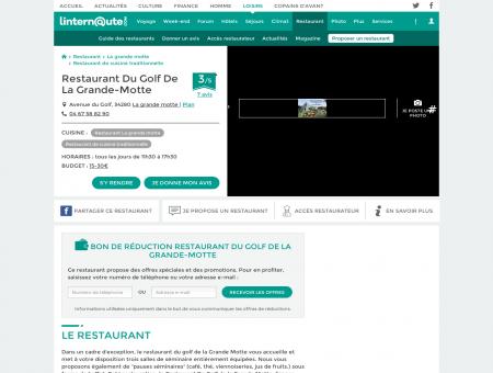 Restaurant Du Golf De La Grande-Motte,...