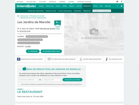 Les Jardins de Marolle, restaurant de cuisine ...