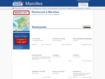 Restaurant Marolles, la Mairie de Marolles, sa...