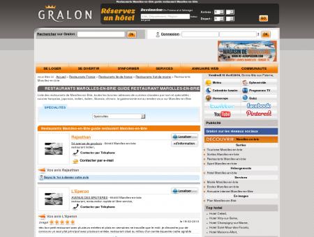 Restaurants Marolles-en-Brie guide...