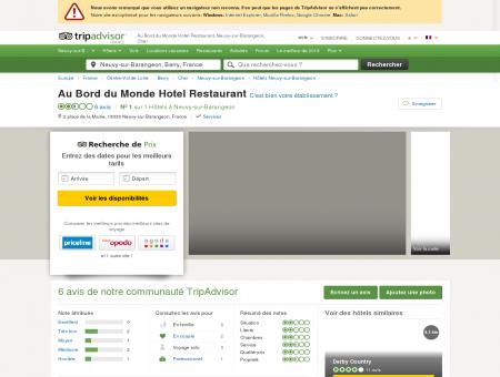 Au Bord du Monde Hotel Restaurant (Neuvy...