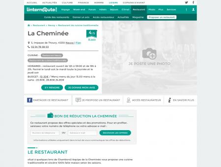 La Cheminée, restaurant de cuisine...