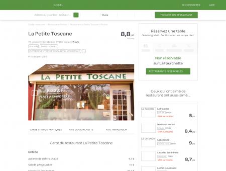 Restaurant La Petite Toscane à Noisiel - menu,...