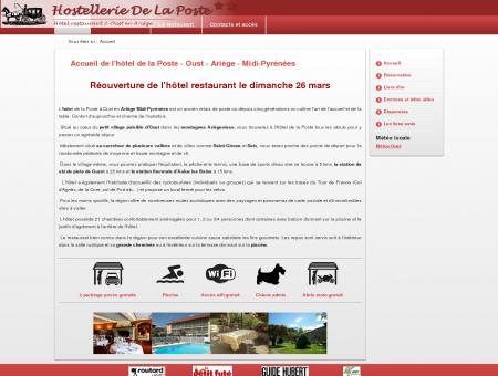 Accueil - Hôtel restaurant de la Poste à Oust -...