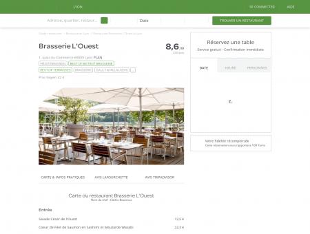Restaurant Brasserie L'Ouest à Lyon -...