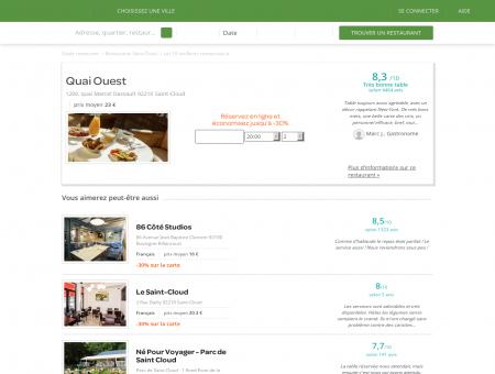 Restaurant Quai Ouest | quai-ouest.lafourchette.com