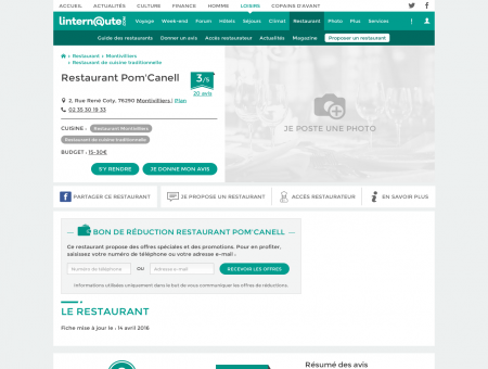 Restaurant Pom'Canell, restaurant de cuisine ...