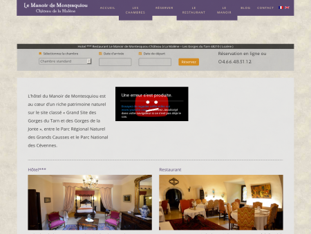 Hotel *** Restaurant Le Manoir de Montesquiou