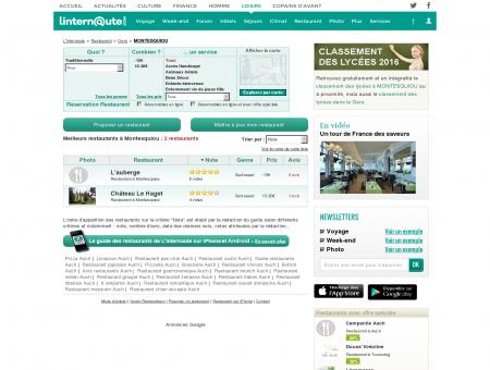 Restaurant Montesquiou : Le guide des...