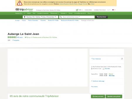 Auberge Le Saint Jean, Nanteuil En Vallee -...