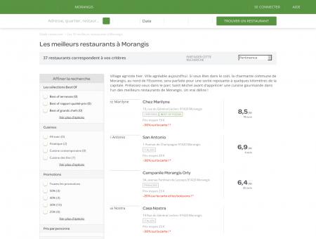 Les 10 meilleurs restaurants à Morangis -...