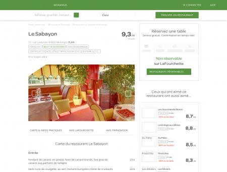 Restaurant Le Sabayon à Morangis - menu,...